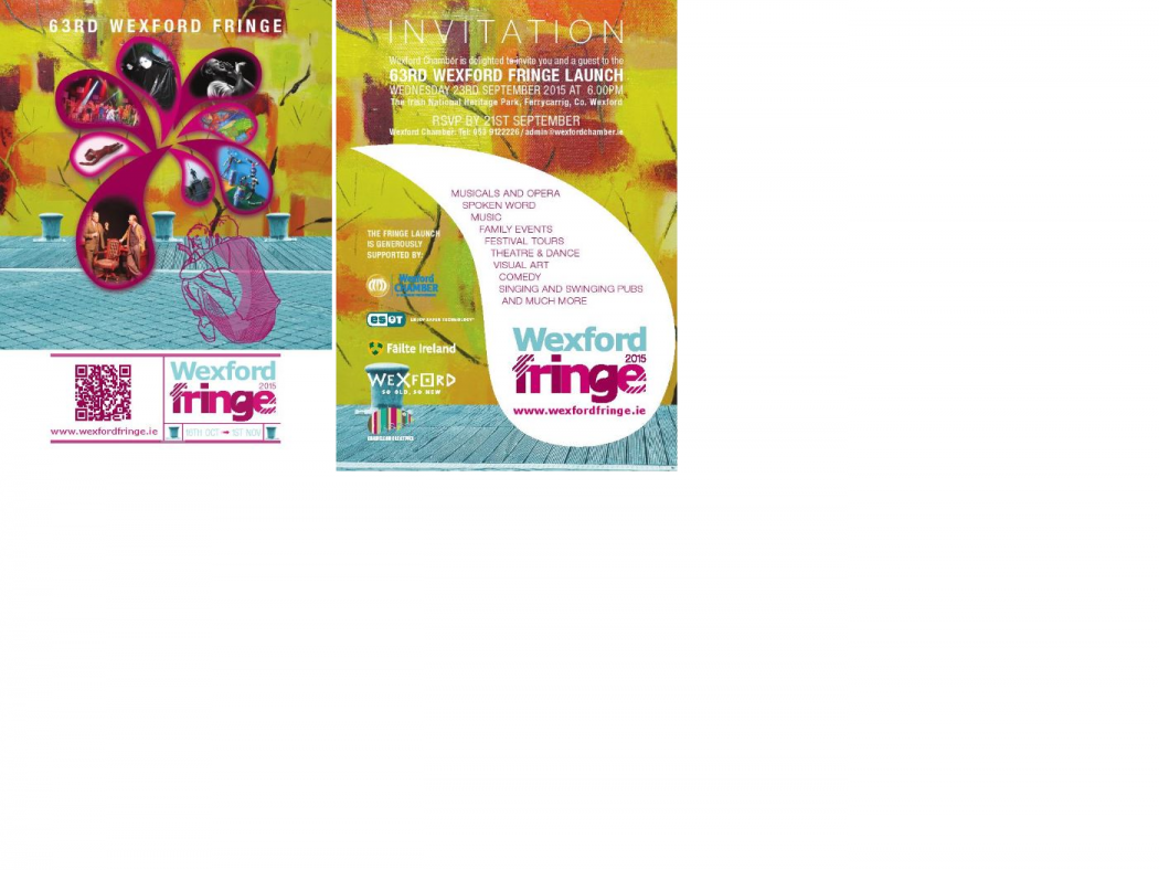 Wexford Fringe 2015 Leaflet