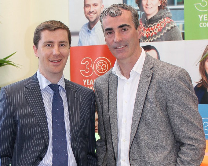 Guest speakers Jim Hughes, CEO of Innovate and Microsoft and former Donegal Manager Jim McGuinness at the 'Make Money from the Microsoft Cloud' partner event held at Microsoft HQ last week.