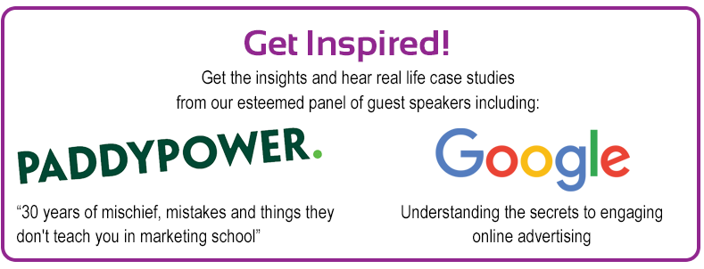 Guest Speakers Paddy Power & Google